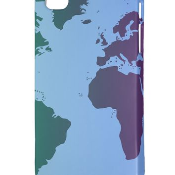 Cool World Map Design iphone 4 Plastic Case All Over Print by TooLoud