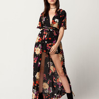 IVY & MAIN Floral Womens Maxi Romper | Rompers