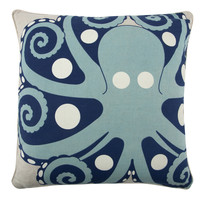 Amalfi Octopus Flax Pillow