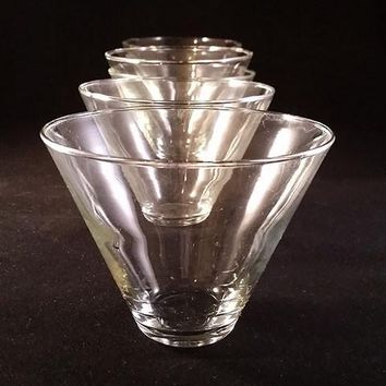 Stemless Martini Glasses  S/6