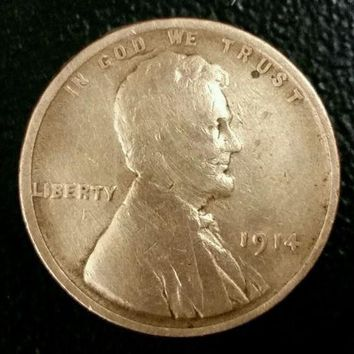 1914 Lincoln Wheat Cent, Sparkling Rare Coin with Amazing Detail. PERFECT Gift!