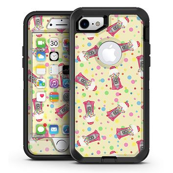 The Fun Colorful Gumball Machine Pattern - iPhone 7 or 7 Plus OtterBox Defender Case Skin Decal Kit