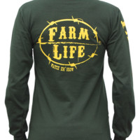 Farm Life Green and Yellow Signature Long Sleeve Shirt: Farm Life | Watch 'em Grow | Apparel, Hats, Decals