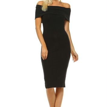 Women's Off Shoulder Bodycon Dress