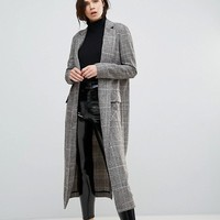 Glamorous Tall Smart Overcoat In Check at asos.com