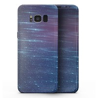 Blue and Purple Scaratched Streaks  - Samsung Galaxy S8 Full-Body Skin Kit