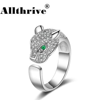 New Fashion Panther Head Ring Cubic Zirconia Rings For Women Jewelry Wedding Engagement Gift Luxury Rhinestone Ring Dropshipping