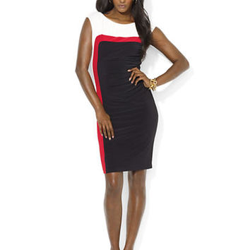 Lauren Ralph Lauren Petite Color Blocked Dress