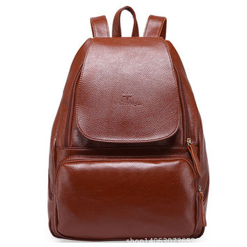 high quality school backpack casual female leather backpack women hot sale split leather backpacks for women vintage bags