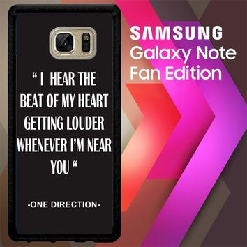 One Direction Lyrics R0263 Samsung Galaxy Note FE Fan Edition Case