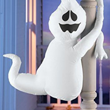 Ghost Halloween Poseable Wrapped Arms Big Porch Decoration