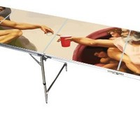 Sistine Chapel Beer Pong Table 8 Feet - Premium HD Design