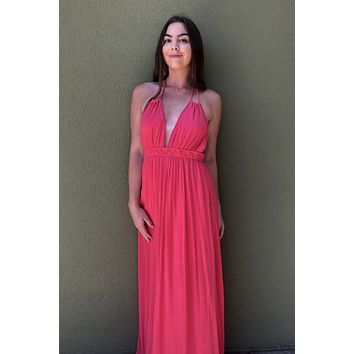 Feel The Love Dress- Coral