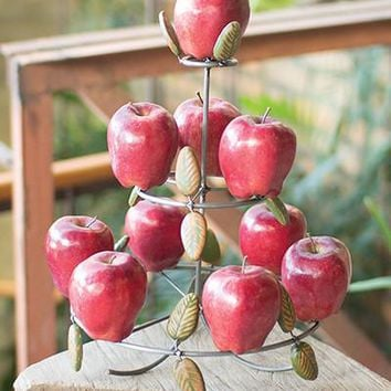 Apple Tree With Clay Leaves