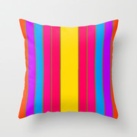 Long Happy Stripes #1 co.1 Throw Pillow by 2sweet4words Designs | Society6