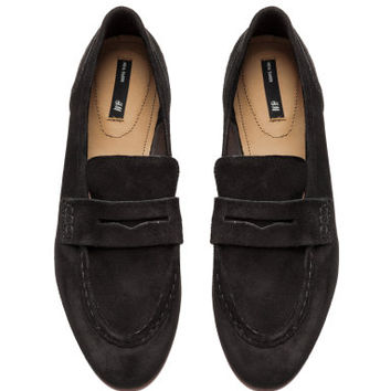 H&M Suede Loafers $59.99