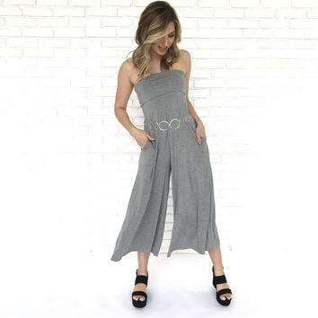 Lounge in Comfort Jersey Grey Jumpsuit