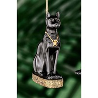 SheilaShrubs.com: Bastet Egyptian Holiday Ornament WU68125 by Design Toscano: Christmas Tree Ornaments