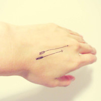 InknArt Temporary Tattoo - 2pcs Tiny arrows set wrist quote tattoo body sticker fake tattoo wedding tattoo small tattoo