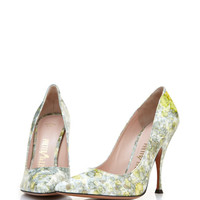 Palter Deliso Monet Pump In Green by Palter DeLiso - Moda Operandi