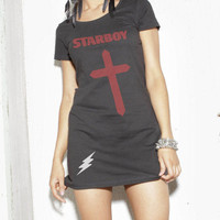 The Weeknd STARBOY long T shirt, The Weeknd, Starboy, Cross, Tee, Starboy T-Shirt, Star Boy T-Shirt, The Weeknd T-shirt, The Weekend T-shirt