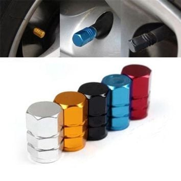 High Quality New 4pcs pack Theftproof Aluminum Car Wheel Tires Valves Tyre Stem Air Caps Airtight Cover hot selling