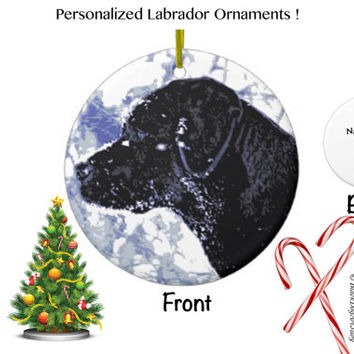 Black Lab Ornament - Black Lab Christmas - Black Lab Art 95 - Black Labrador Ornament - Lab Dog - Labrador Retriever - Black Lab Decor