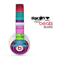 The Wide Neon Wood Planks Skin for the Beats Studio