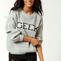 Lois Geek Print Knit Sweater