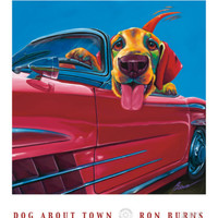 Dog About Town Print by Ron Burns at Art.com
