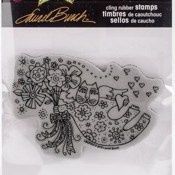 Stampendous Laurel Burch Cling Stamp -Love Cat Angel