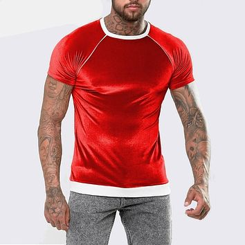 Velour With Rib Hem And Piping Hip hop t shirt