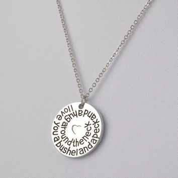 Bushel and a Peck Stamped Necklace
