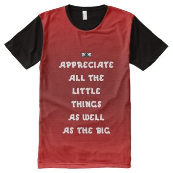 Appreciate Quote by Kat Worth All-Over-Print T-Shirt