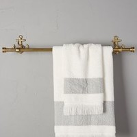Brass Anchor Towel Bar by Anthropologie in Antique Gold Size: