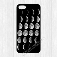Moon Phases iPhone 5 Case, Moon Phase iPhone 5 5s Hard Plastic Rubber Case,cover skin case for iphone 5/5s cases,More styles