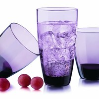 Libbey 16-pc. Classic Grape Glassware Set