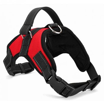 Dog Soft Adjustable Harness Pet Large Dog Walk Out Harness Vest Collar Hand Strap for Small Medium Large Dogs