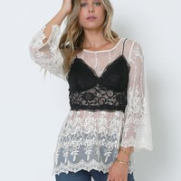 Chloe Lace Top - Ivory