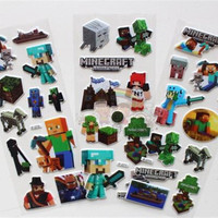 200pcs 2015 new arrive Minecraft Sticker 3D Cartoon party Decorative book Stickers paper game christmas Children gift toys D121