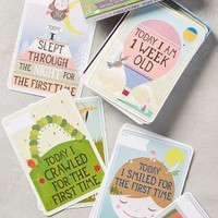 Milestone Baby Cards by Anthropologie in Green Size: One Size Gifts