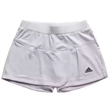 Adidas Women Casual Solid Color Sports Gym Culotte Skirt Shorts