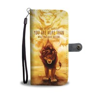 QIYIF The Lion King Look Inside Yourself Wallet Phone Case