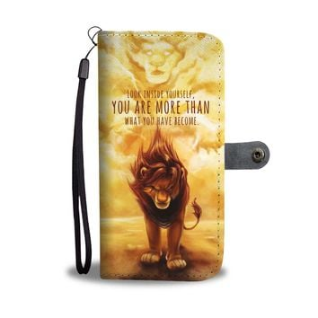 KUYOU The Lion King Look Inside Yourself Wallet Phone Case