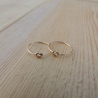 Midi knot Ring, Memory Ring, Gold Fill tiny knuckle ring, Love knot ring, Promise Ring, Tie the knot ring