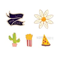 Cactus and Flower Pin Set