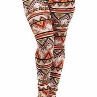 Aztec Print Leggings Plus Size