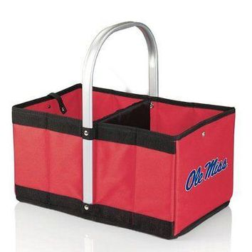 PICN-546001003740-NCAA Mississippi Ole Miss Rebels Urban Market Basket, Red