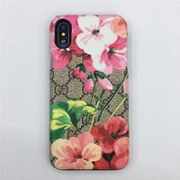 gucci fashion print embroidery iphone phone cover case for iphone x-3
