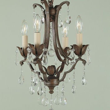 Murray Feiss Maison De Ville 4 Light Bronze Mini Chandelier - F1881/4BRB